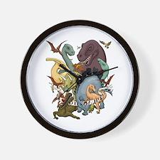 I Heart Dinosaurs Wall Clock