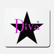 Black Star Diva Mousepad