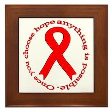Red Hope Framed Tile