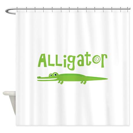 Cute Alligator Shower Curtain