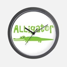 Cute Alligator Wall Clock