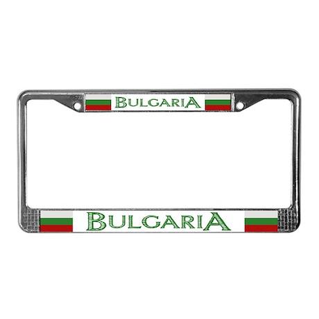 """""""Bulgaria Flag"""" License Plate Frame"""