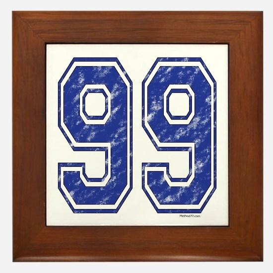 99 Jersey Year Framed Tile