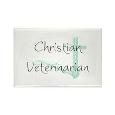 Christian Veterinarian Rectangle Magnet (10 pack)