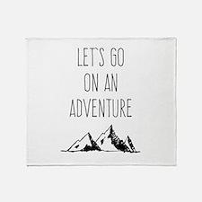 Let's Go On An Adventure Throw Blanket