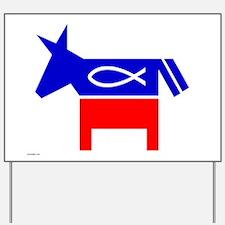 Christian Fish Dem Donkey Yard Sign