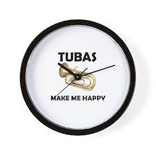 HAPPY TUBA Wall Clock