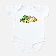 Sleeping Baby Animals Infant Bodysuit