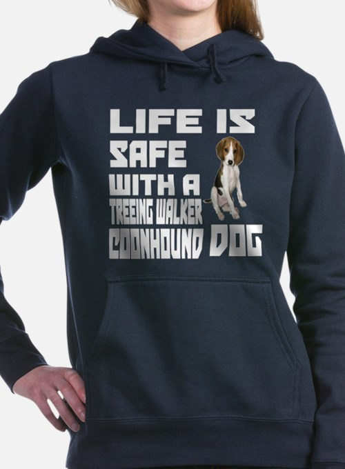 Life Is Safe With A Tree Women's Hooded Sweatshirt