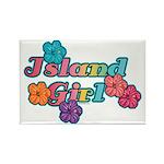 Island Girl Rectangle Magnet