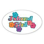 Island Girl Oval Sticker
