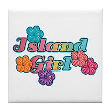 Island Girl Tile Coaster