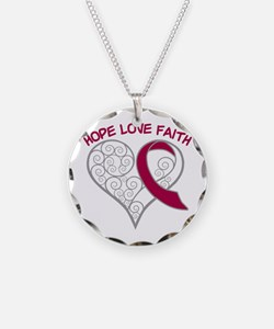 Throat Cancer Hope Necklace