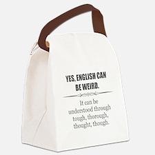 Weird English Canvas Lunch Bag