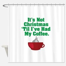 Funny Christmas Coffee Shower Curtain
