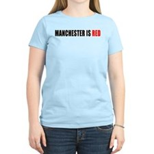 Manchester is Red Women's Pink T-Shirt