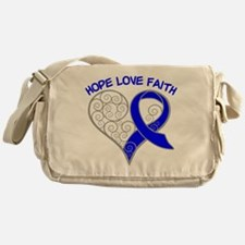 Rectal Cancer Hope Messenger Bag