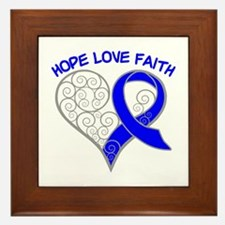Rectal Cancer Hope Framed Tile