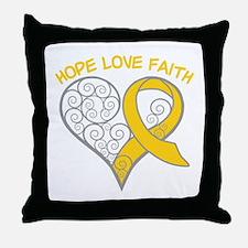 Neuroblastoma Hope Throw Pillow
