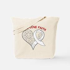 Mesothelioma Hope Tote Bag