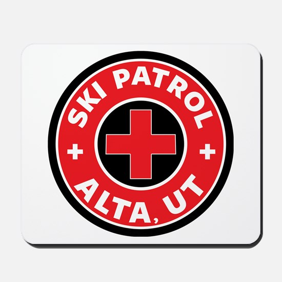 Alta Utah Ski Patrol Skiing Mousepad