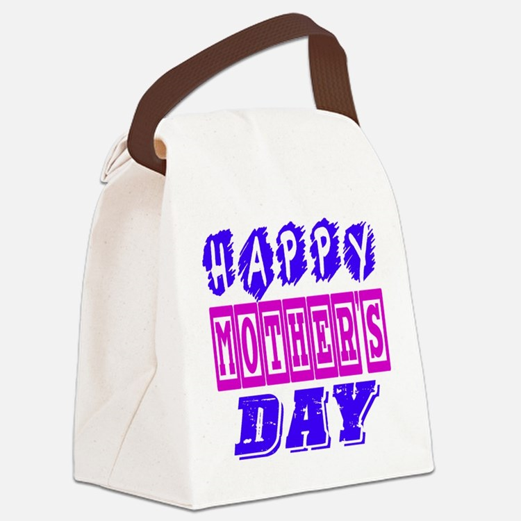 Happy Mother's Day Designs Canvas Lunch Bag