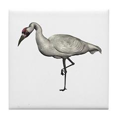 Whooping Crane Tile Coaster