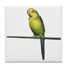 Yellow Faced Parrot Tile Coaster