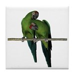 Military Macaw (Pair) Tile Coaster