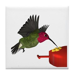 Anna Hummingbird Tile Coaster