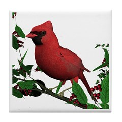 Cardinal (male) Tile Coaster