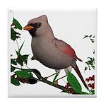 Cardinal (female) Tile Coaster