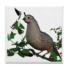 California Quail (female) Tile Coaster
