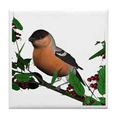Bullfinch (male) Tile Coaster