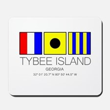 Tybee Island Georgia Nautical Flag Art Mousepad
