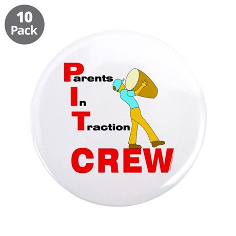 "Pit Crew Band Parent 3.5"" Button (10 pack)"
