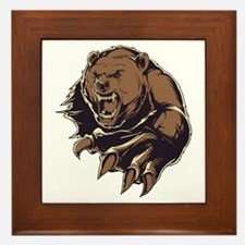 Wild Bear Framed Tile