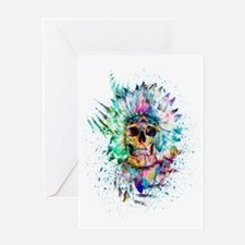 Skull Wild S. Greeting Cards