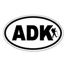 Adirondack ADK Hiker Oval Decal