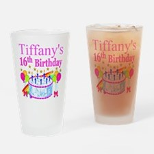 PERSONALIZED 16TH Drinking Glass