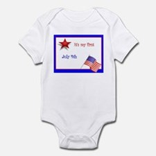 It's my first July 4th Infant Bodysuit