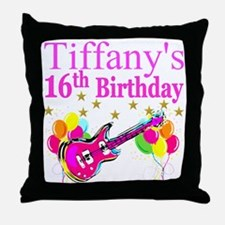 PERSONALIZED 16TH Throw Pillow