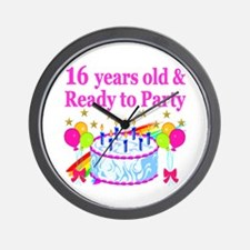 PERSONALIZED 16TH Wall Clock