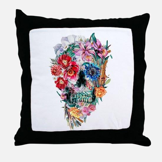 Skull Momento Mori VI Throw Pillow