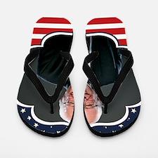 bernie sanders flag Flip Flops