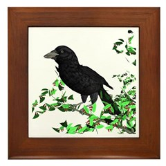 Raven Framed Tile