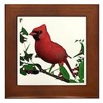 Cardinal (male) Framed Tile