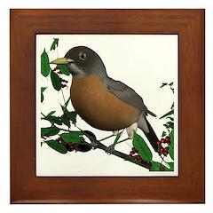 American Robin Framed Tile