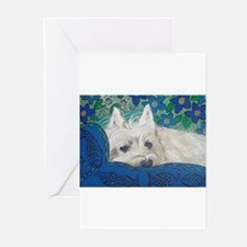 Westie4x6 Greeting Cards