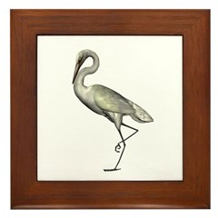 Egret Framed Tile